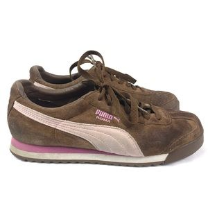 Puma | Roma Brown Suede Sneakers